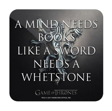 A Mind Needs Books - Game of Thrones Fan Printed Coaster