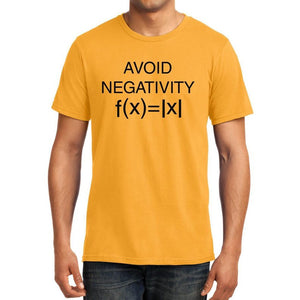 Avoid Negativity - Mathematics Unisex Tshirt