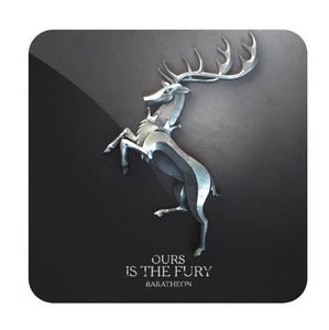 House Baratheon Metallic Sigil- Game of Thrones Fan Printed Coaster