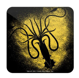 House Greyjoy Sigil Splatter - Game of Thrones Fan Printed Coaster