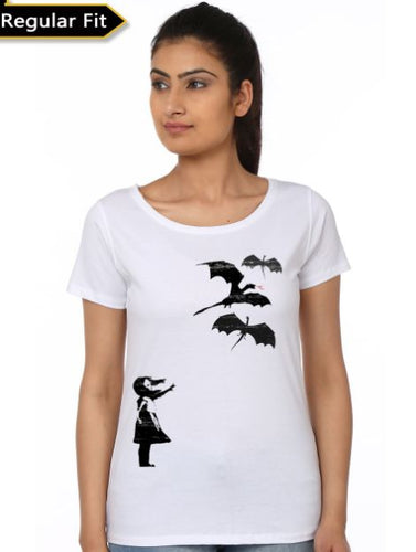 haleesi And Dragons Girls T-Shirt- Game of Thrones Women Fan Tshirt