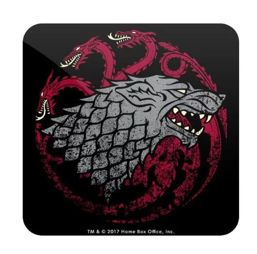 Fire, Blood and Ice- Game of Thrones Fan Printed Coaster