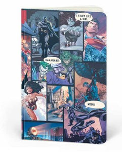 DC Comics: Comic Pattern- DC Heroes Fan Printed Notebook