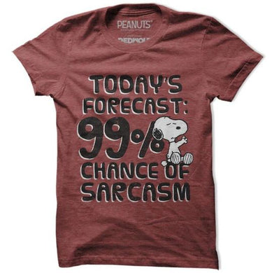 99% Chance of Sarcasm  - Peanuts Inspired Fan Tshirt
