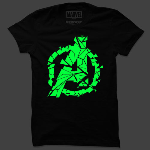 Avengers Logo (Glow In The Dark): Earth's Heroes T Shirt