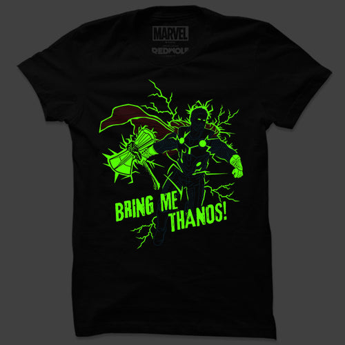 Bring Me Thanos (Glow In The Dark): Earth's Heroes T Shirt