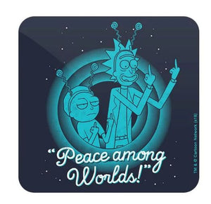 Peace Among Worlds - Rick And Morty Coaster