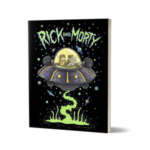 Space Cruiser  - Rick and Morty Fan Printed Notebook