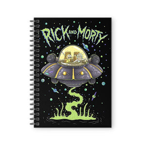 Space Cruiser- Rick and Morty Fan Printed Notebook