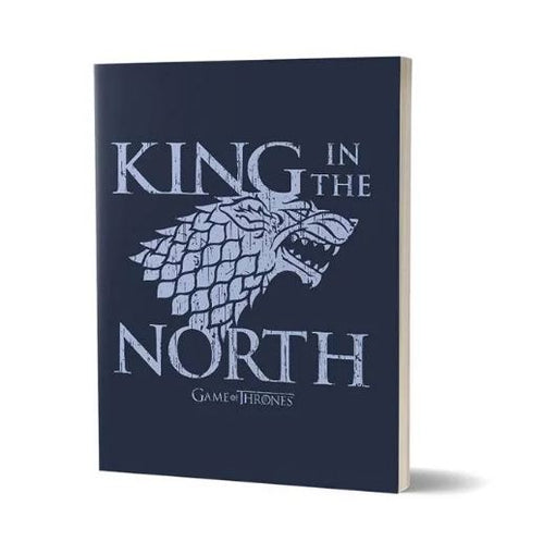 King In The North- Game Of Thrones Fan Printed Notebook