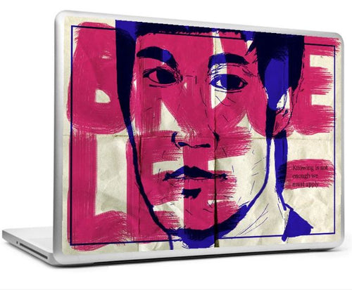 BRUCE LEE - KNOWING - QUOTE LAPTOP SKIN