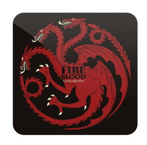 Fire And Blood- Game of Thrones Fan Printed Coaster