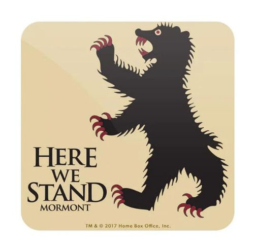 Here We Stand- Game of Thrones Fan Printed Coaster