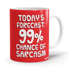 Load image into Gallery viewer, 99% Chance Of Sarcasm- Peanuts Inspired Fan Printed Mug