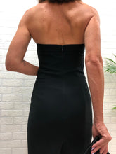 Load image into Gallery viewer, Moschino Black Strapless Dress