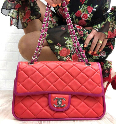 Chanel Two Tone Flap Bag