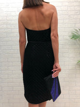 Load image into Gallery viewer, Josh Goot Strapless Velvet Quilted Dress