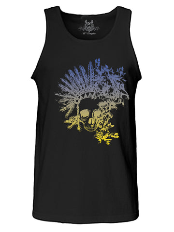 Native Skull Digital Print Tank Top