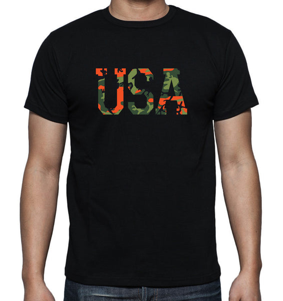 Camo USA Digital Print T-Shirt