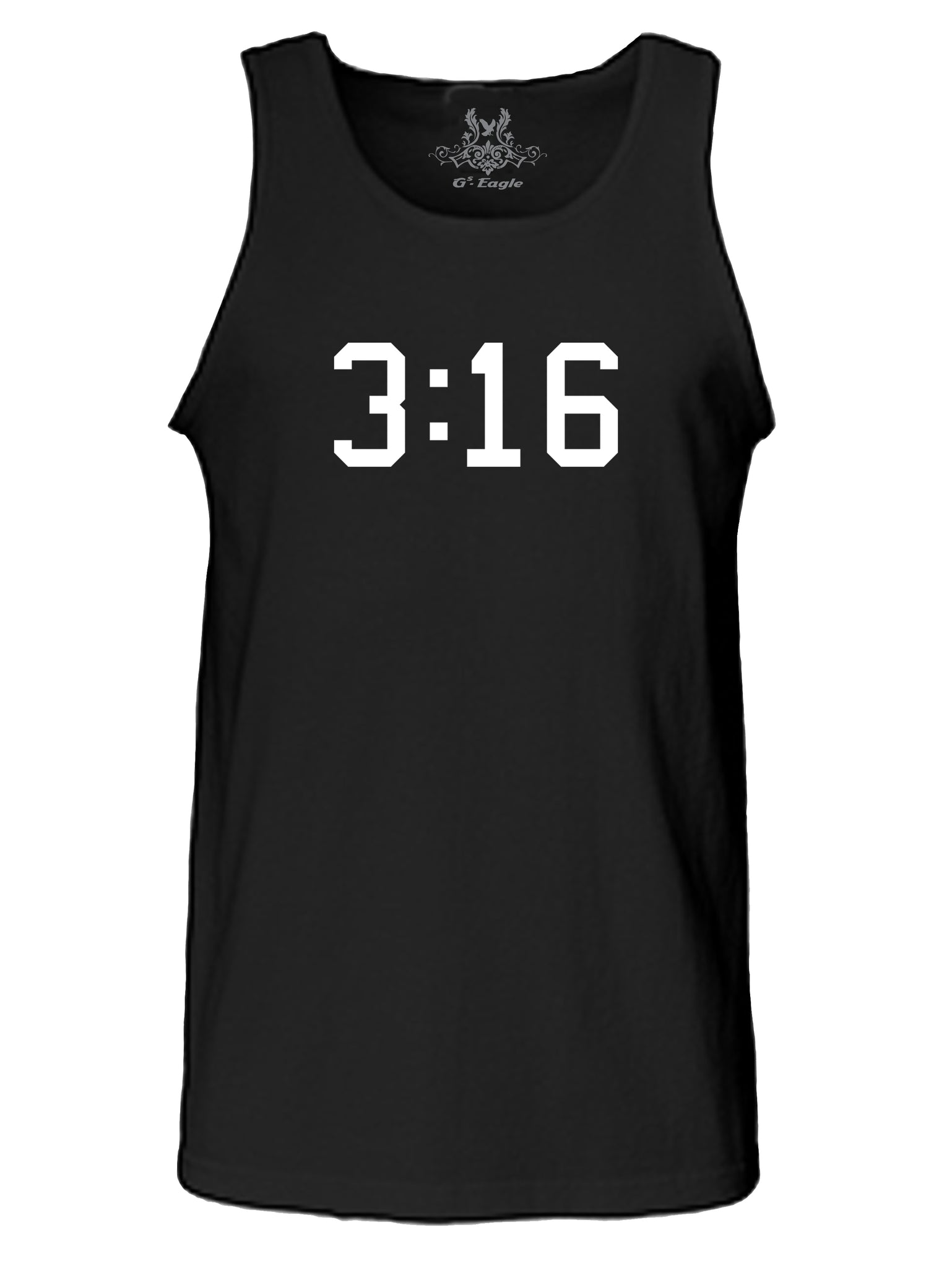 3:16 Graphic Print Tank Top