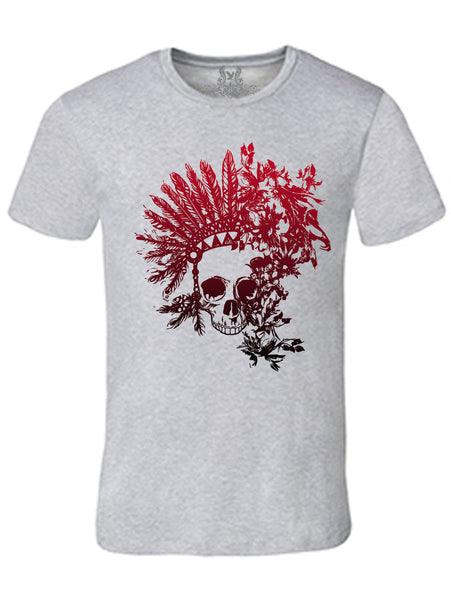 Native Skull Digital Print T-Shirt