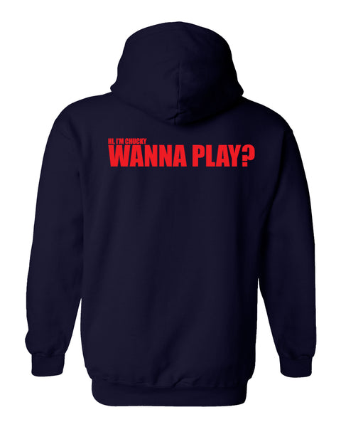 "CHUCKY ""Wanna Play"" Fleece Hoodie"