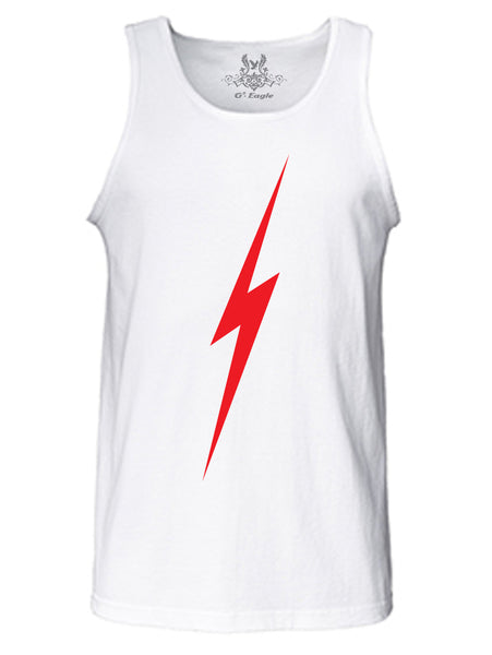 Lightning Bolt Graphic Print Tank Top