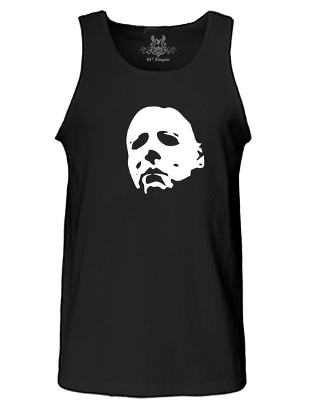 Abstract Face Print Tank Top