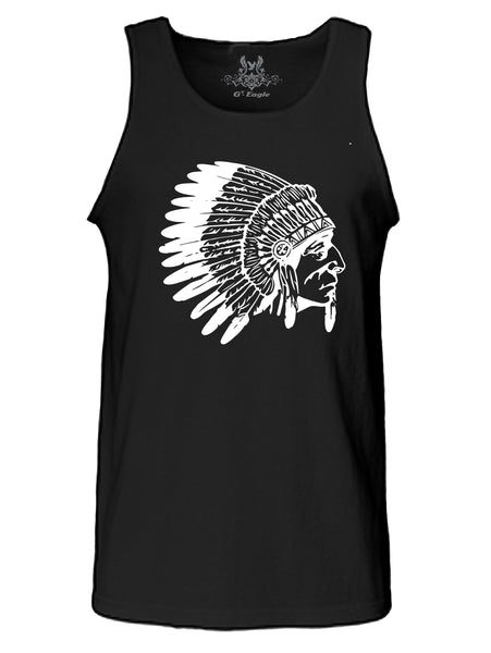 Native Skull Tribe Graphic Print Tank Top