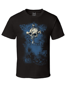 Old School Vintage Skull Digital Print T-Shirt
