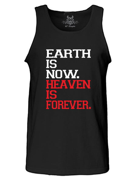 Earth VS Heaven Graphic Print Tank Top