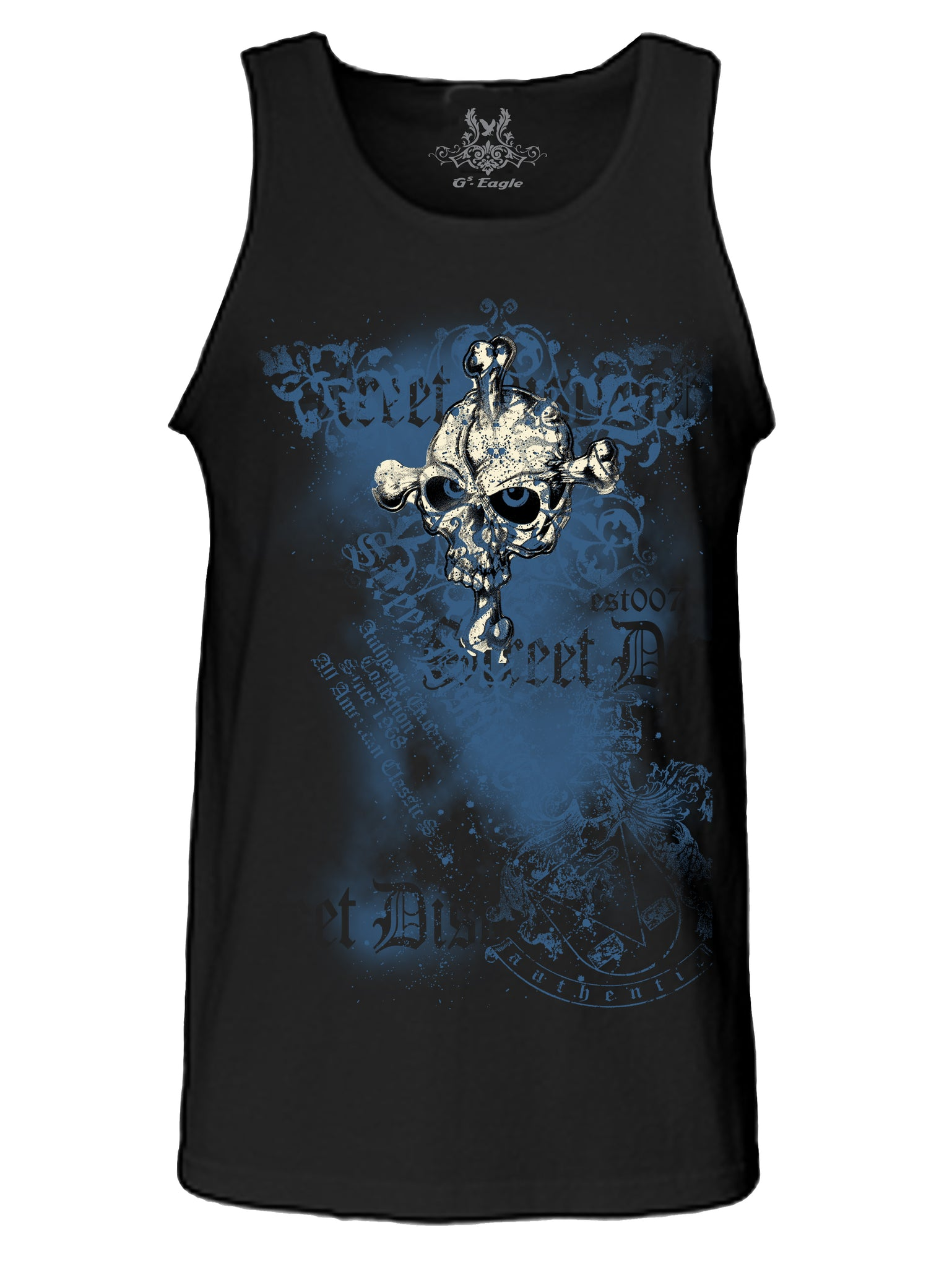 Old School Vintage Skull Digital Print Tank Top