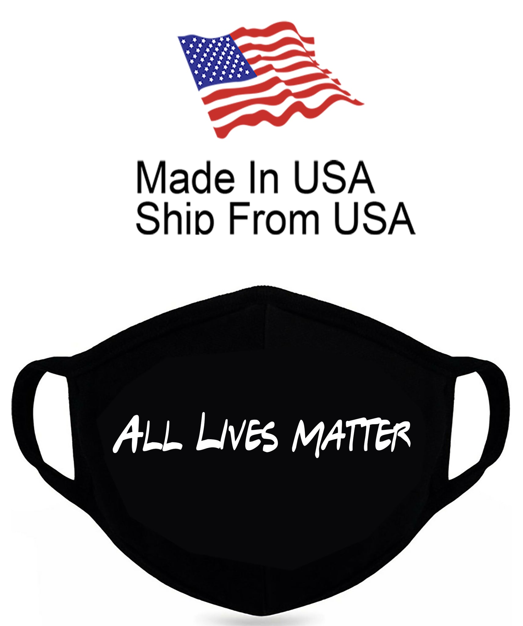 All Lives Matter Cotton Face Mask