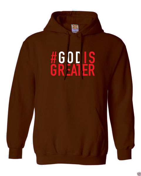God is Greater Fleece Hoodie