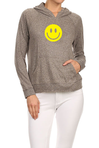 Cute Happy Face Women's Hoodie