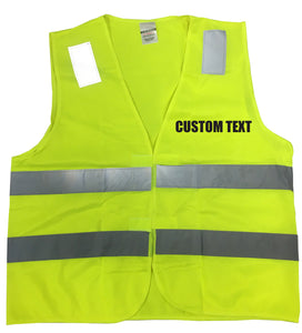 "Customizable Reflective ""Your Text"" Traffic Vest"