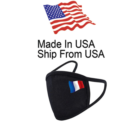 Flag of France Cotton Face Mask