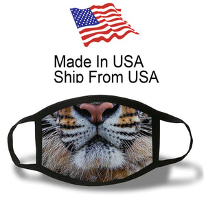 Tiger Cotton face Mask