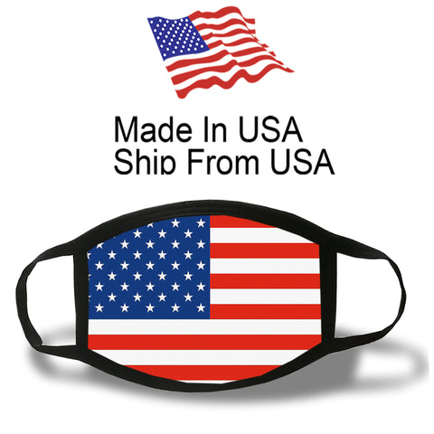 US Flag Cotton Face Mask