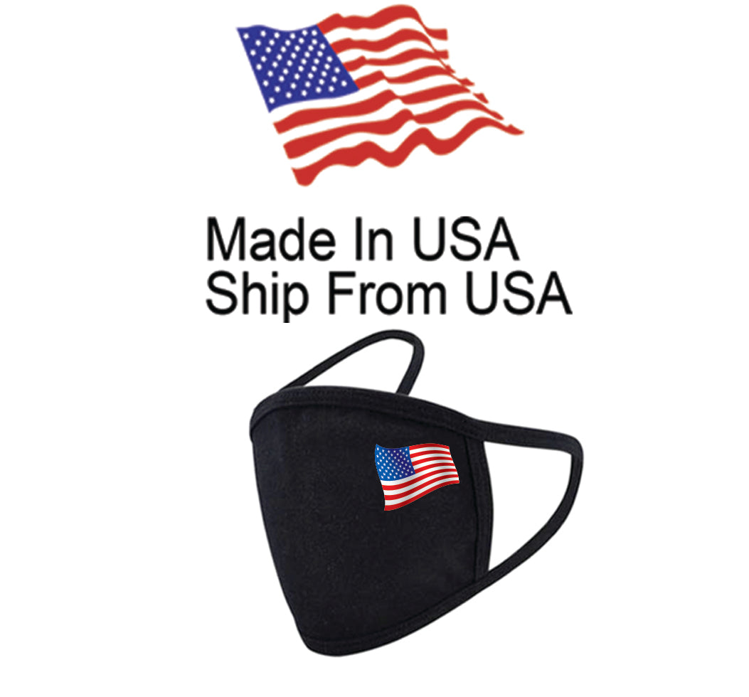Flag of United States Cotton Face Mask