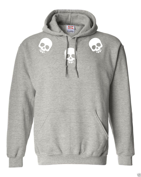 Collared Skull Fleece Hoodie