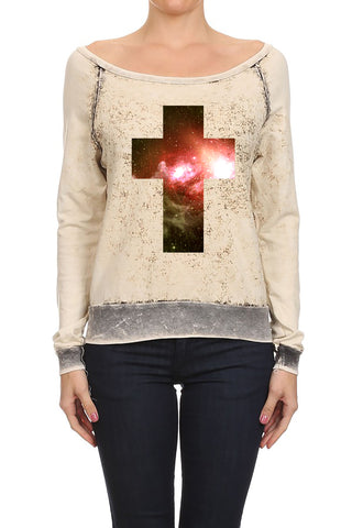 Digital Cross Women's Sweaters