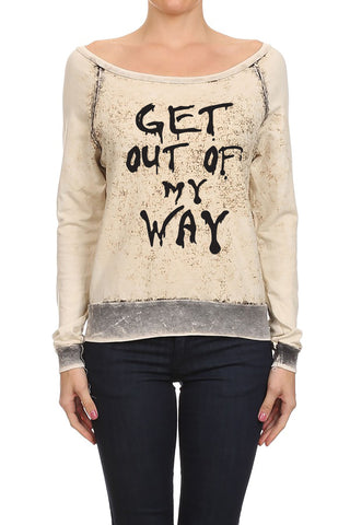 Get Out of the Way Women's Sweaters