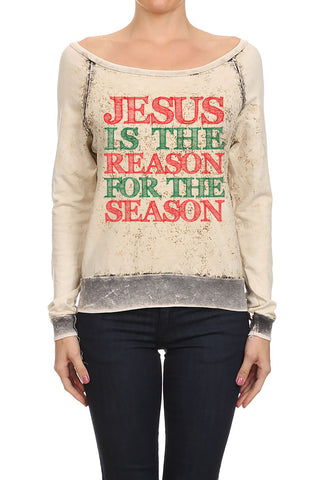 Jesus Reason for the Season Women's Sweaters