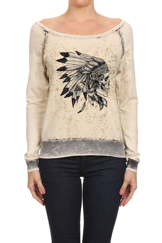 Native Skull Tribe Women's Sweaters
