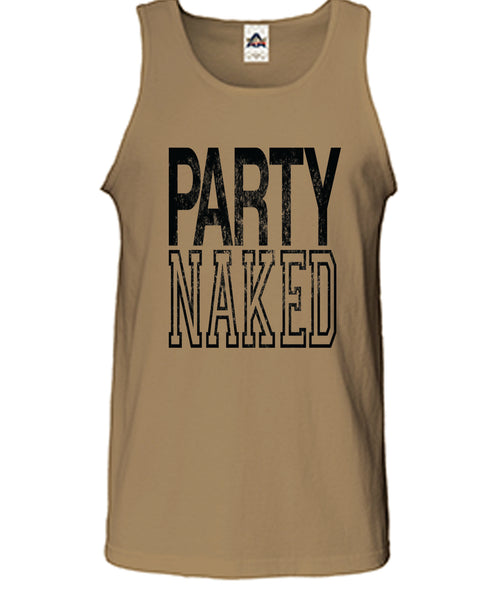 Party Naked Graphic Print Tank Top