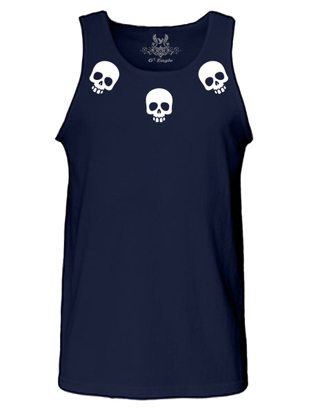 Collared Skull Tank Top