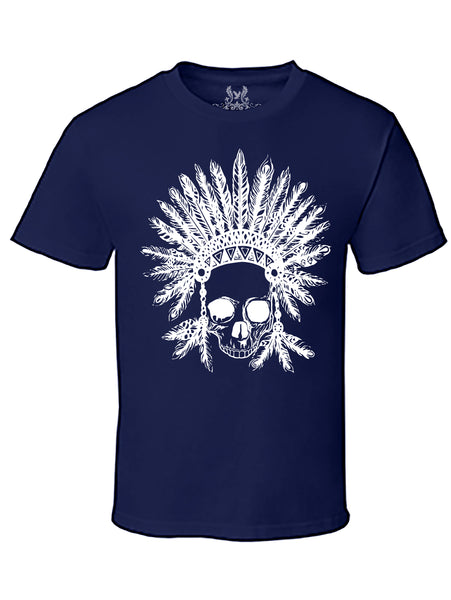 Native Skull Tribe Graphic Print T-Shirt