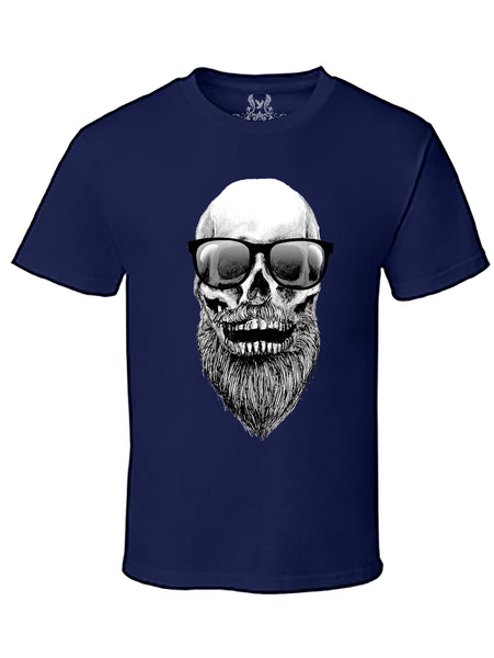 Bearded Skull Graphic Print T-Shirt