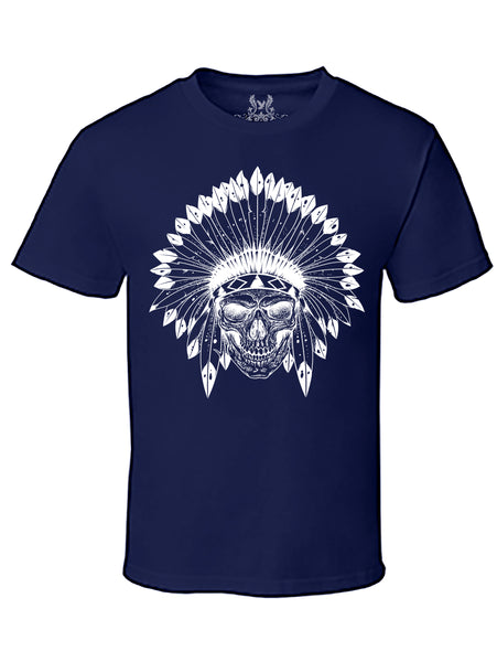 Native Tribe Skull Graphic Print T-Shirt